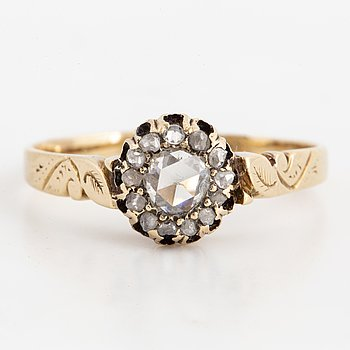 Rose-cut diamond ring.