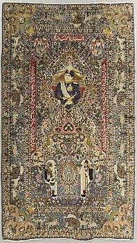 A semaintique/antique Tabriz probably ca 288 x 172 cm.