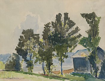 LENNART SEGERSTRÅLE, akvarell, signerad och daterad 1957.
