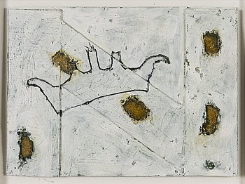 TUOMO KLEMI, mixedmedia, a tergo signed and dated 1991-93.