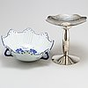 Borek sipek, an 'odette' porcelain and silver plated brass centrepiece from driade, italy.
