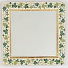 A mirror decorated with ivy attributed to estrid ericson for svenskt tenn