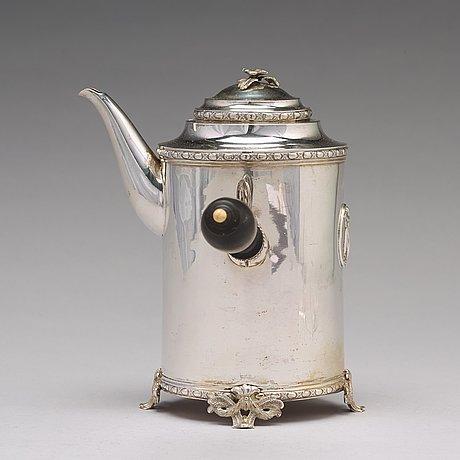 A swedish 18th century silver coffee-pot, mark of johan schvart, karlskrona 1791.