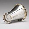 A swedish 18th century parcel-gilt silver beaker, mark of peter gadd, kristianstad 1776.