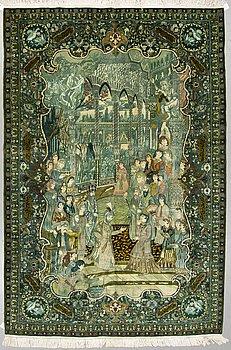 MATTA, old Täbris, figural, sk 50 radj ca 293 x 194 cm.