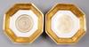 SkÅlfat, ett par, porslin, senempire, frankrike 1800-talets mitt.