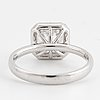 Ring with princess cut diamond, with report igi