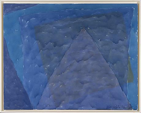 Marjukka kaminen, acrylic on canvas, signed and dated 1989