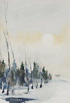 NANDOR MIKOLA, akvarell, signerad och daterad 1984.