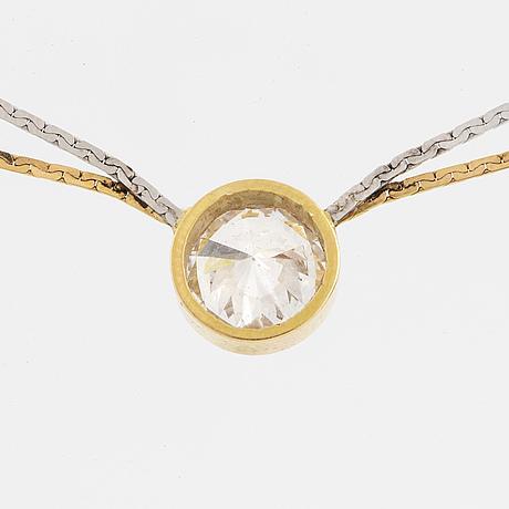 Circa 1,30 ct brilliant cut diamond necklace