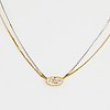 Circa 1 ct oval diamond necklace