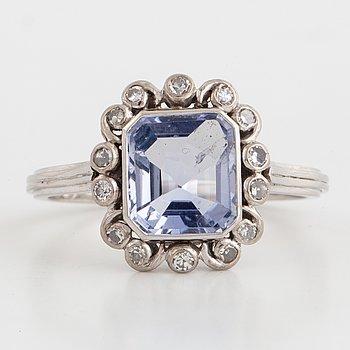 An A.Tillander sapphire and diamond ring.