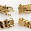 Collier och armband, 18k guld