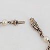 Armband, vitguld med pärlor