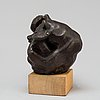 Carl milles, sculpture. bronze, unsigned. total height 19 cm.