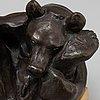 Carl milles, skulptur, bronze, osign. total höjd 19 cm