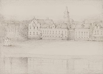 HILKKA INKALA, ink drawing, signed and dated Oulu 1979.