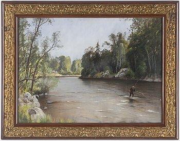 CARL BRANDT, pastell, signerad och daterad 1902.