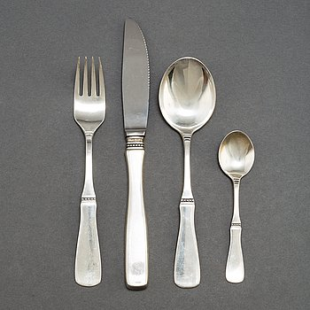 A second half of the 20th Century 48-piece 'Uppsala' silver cutlery service.