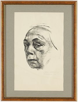 KÄTHE KOLLWITZ, lithograph, signed and dated 1924.