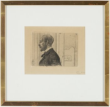 CARL LARSSON, etching, 1906, signed in pencil.