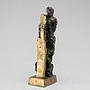 OkÄnd konstnÄr 1900-tal , skulptur, brons, monogramsignerad, numrerad i/vii. höjd 35 cm.