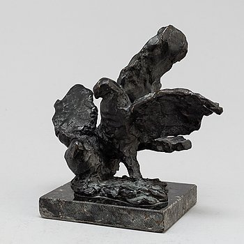 TORSTEN FRIDH, Sculpture. Bronze. Signed. Height 17 cm, length 18 cm.