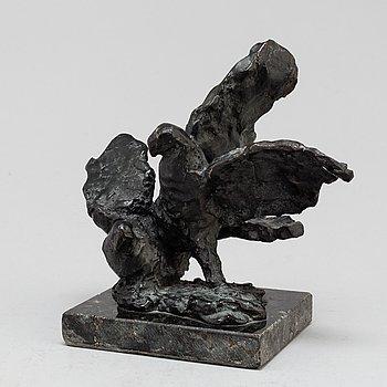 TORSTEN FRIDH, Skulptur, brons. Sign. Höjd 17 cm, längd 18 cm.