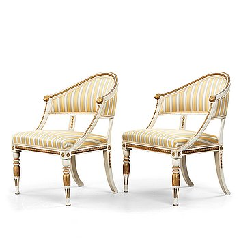 13. A pair of late Gustavian armchairs, circa 1800.