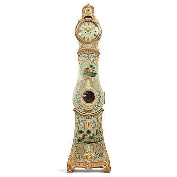 127. A Swedish Rococo 18th century longcase clock.