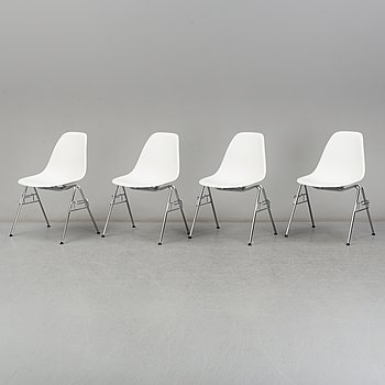 Four 'DSS' easy chairs by Charles & Ray Eames, Vitra, 2017.
