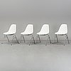 Four 'dss' easy chairs by charles & ray eames, vitra, 2017