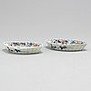 A pair of imari spoon trays, qing dynasty, 18th century.