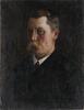 OkÄnd konstnÄr, oljor på duk, 2 st var av en monogramssign, omkring 1900.