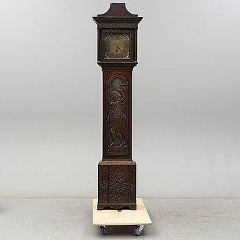 A longcase clock by John Sanderson Wigdon in a later case.
