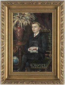 JULIUS GRANBERG, olja på duk, signerad. Troligen utförd 1887.