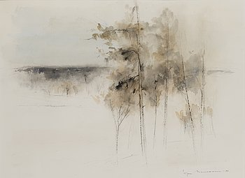 EGON MEURONEN, watercolour, signed and dated -84.