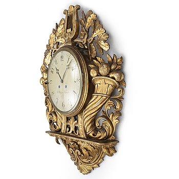 A Swedish late Empire wall clock by C. Hellgren (master 1829).