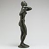 Leo holmgren, sculpture. bronze. signed and dated. foundry mark. height 49 cm.