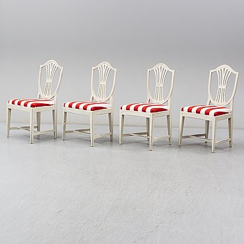 A set of four chairs, circa 1800.
