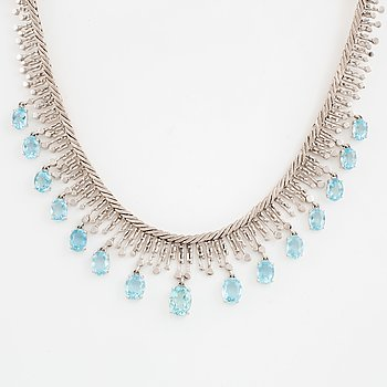 Aquamarine and white gold necklace, Tännler AG.