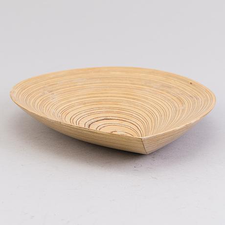 Tapio wirkkala, a plywood dish signed tw