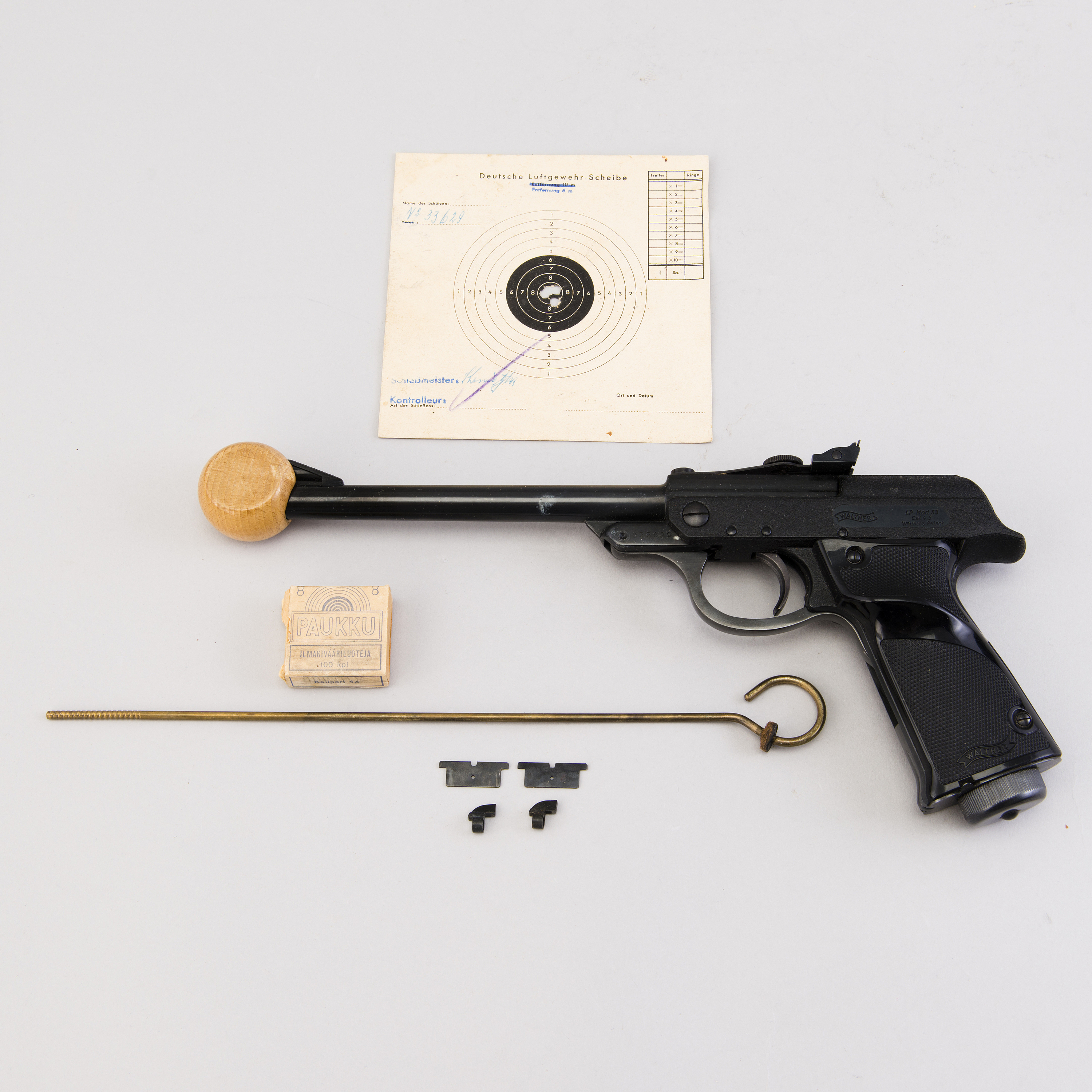 A Walther LP53 air gun, Germany  In production 1953-1976