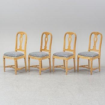 Four 'Hallunda' chairs by IKEA.