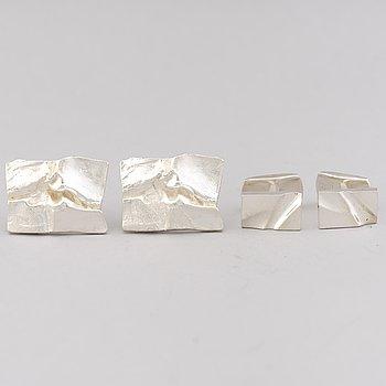 LAPPONIA, MANSCHETTKNAPPAR, 2 par, silver.