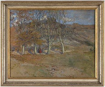 OLGA NYBLOM, pastell, signerad och daterad 1908.