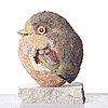 Tyra lundgren, a stoneware sculpture of a bird, sweden, dated 1967.