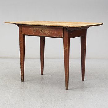 A swedish wooden table from the 19th century.
