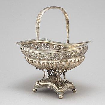 WILHELM FAHLSTRÖM, an empire silver basket, Helsingfors (1818-35).