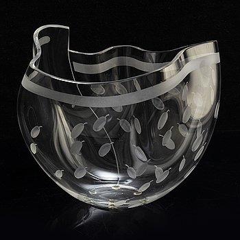 GUNNAR CYRÉN, vase, glass, Orrefors, signed and numered 982272 EA 1-90.